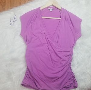 Cabi Lilac Wrap Blouse
